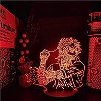 QLWLKJ 3Dイリュージョンチャイルドナイトライト僕のヒーローアカデミアアニメランプダビLEDライト僕のヒーローアカデミアLEDカラーチェンジランパラ-16色リモート HOICHAN