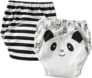 Morbuy-Shop, Pantalones de Entrenamiento para Bebé, Morbuy Reusable Calzones de Entrenamiento Ropa Interior de Entrenamiento Bragas de Aprendizaje para Niño Niña, 1-6 Edad, 2 Piezas