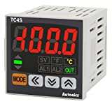 Autonics TC4S-24R Temp Control, 1/16 DIN, Single Display 4 Digit, PID Control, Relay & SSR Output, 2 Alarm Output, 100-240 VAC