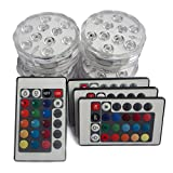 Color LED Light: Vivid LED lighting effects with totally 16 static color light and 4 lighting modes as flash, strobe, fade, smooth, as well as brightness (frequency) up / down, enabling endless possibilities for home decoration and entertainment IR R...