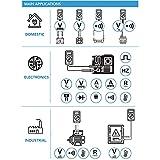 C-LOGIC 5200 Multímetro Digital Profesional CAT IV 66000 cuentas NCV Tension DC/AC 1000V Corriente AC/DC 10A Resistencia 66MΩ Temperatura Capacitancia Frecuencia 20kHz Autoescala