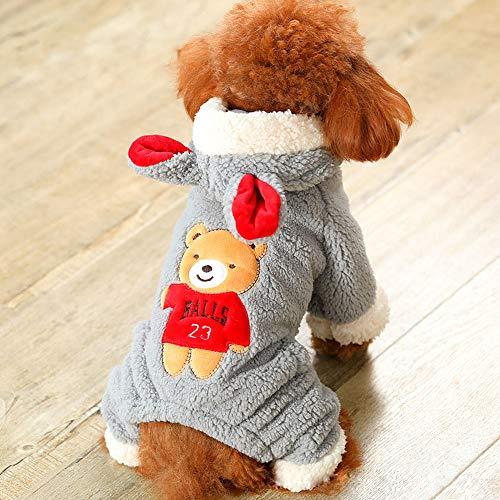 BWLZSP 1 szt. ubrania dla małych psów jesienne ubrania dla kotów ubrania dla zwierząt domowych niedźwiedź duża zmiana sukienka AP9251657 (Rozmiar: XL BUST 52-56 cm)