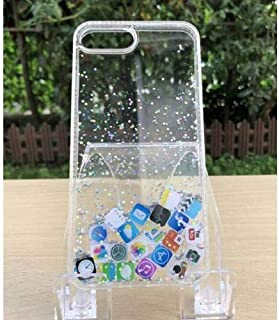 Made for [Apple iPhone X/XS (2018)] Quicksand Back Case, [Mobile Application Icon Design] Slim Crystal Back Bumper Case [Drop Protection] Liquid Quicksand Case by Redshield