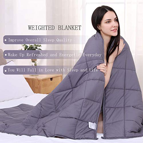Weighted Blanket Weighted Blanket for Adults Anti-Anxiety Sensory Calming Blankets Weighted Blanket for Better Sleep and Stress Relief, 100% Cotton with Glass Beads ( Size : 120*180cm/15lbs )