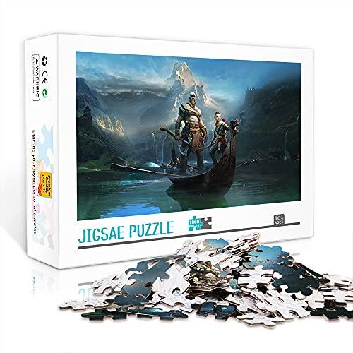 Rompecabezas para adultos Rompecabezas clásico 1000 piezas Puzzle de madera (Battle Chasers Nightwar) Jigsaws Juego educativo rompecabezas Juguetes adictivos (75x50cm)