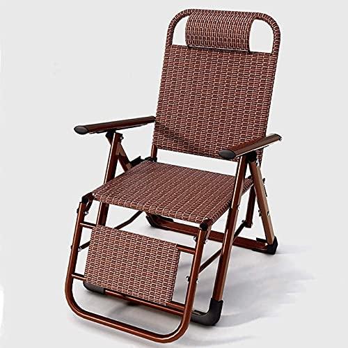 Patio Lounge Sillas Rattan Silla Rattan Respaldo Silla Plegable Individual, Balcón Balcón Silla Plegable de Ocio, G