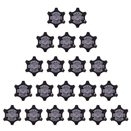 Hinleise - Tacos de Repuesto para Zapatos de Golf (20 Unidades), Color Negro