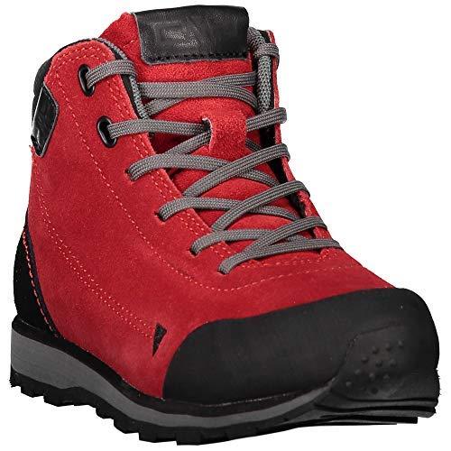 CMP wandelschoenen outdoorschoen Kids Elettra Mid Hiking Shoes rood effen kleuren
