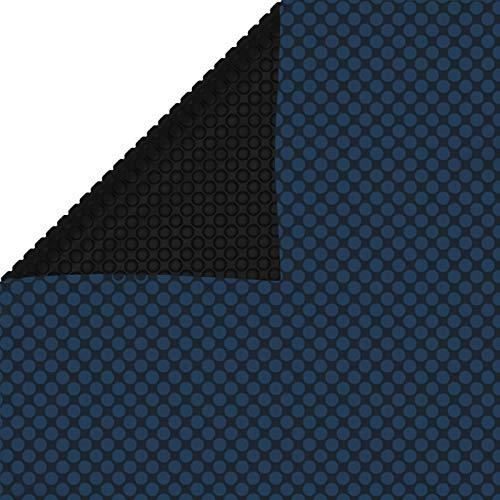 Tidyard Cubierta Solar de Piscina de PE Flotante Cubierta para Piscina Rectangular Cobertor para Piscina Negro y Azul 450 x 220 cm