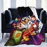 Nedrodapphire Sp-Ac-E Xmas J-A-m Ultra-Soft Micro Fleece Blanket Throw Blanket Fit Couch Bed Sofa All Season Light Weight Living Room/Bedroom Warm Throw Blanket,Black,60' X50