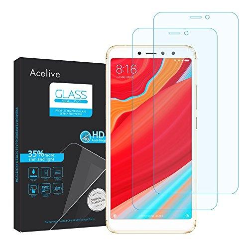 Acelive Xiaomi Redmi S2 Panzerglas, 2 Stücke Hartglas 9H Anti-Bläschen Gehärtetem Panzerfolie Schutzfolie Bildschirmschutzfolie Folie für Xiaomi Redmi S2