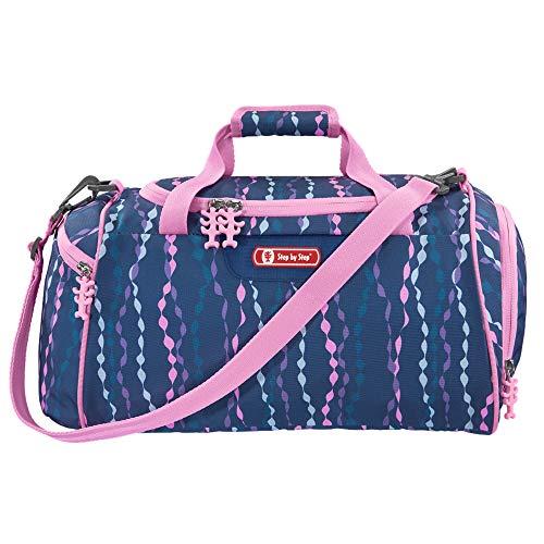 """Step by Step Sporttasche """"Mermaid"""", blau/rosa, mit Nasswäschefach, Abnehmbarer Tragegurt, Verstellbarer Schultergurt, für Mädchen 1. Klasse, 13L"""