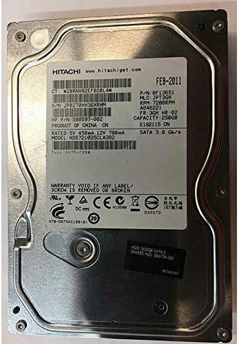 Hitachi 0F13651 Deskstar 7K1000.C 250GB SATA/300 7200RPM 16MB Hard Drive (Renewed)
