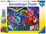 Ravensburger 12976 Space Dinosaurs 200 Piece Puzzles for Kids, Every Piece is Unique, Pieces Fit Together Perfectly
