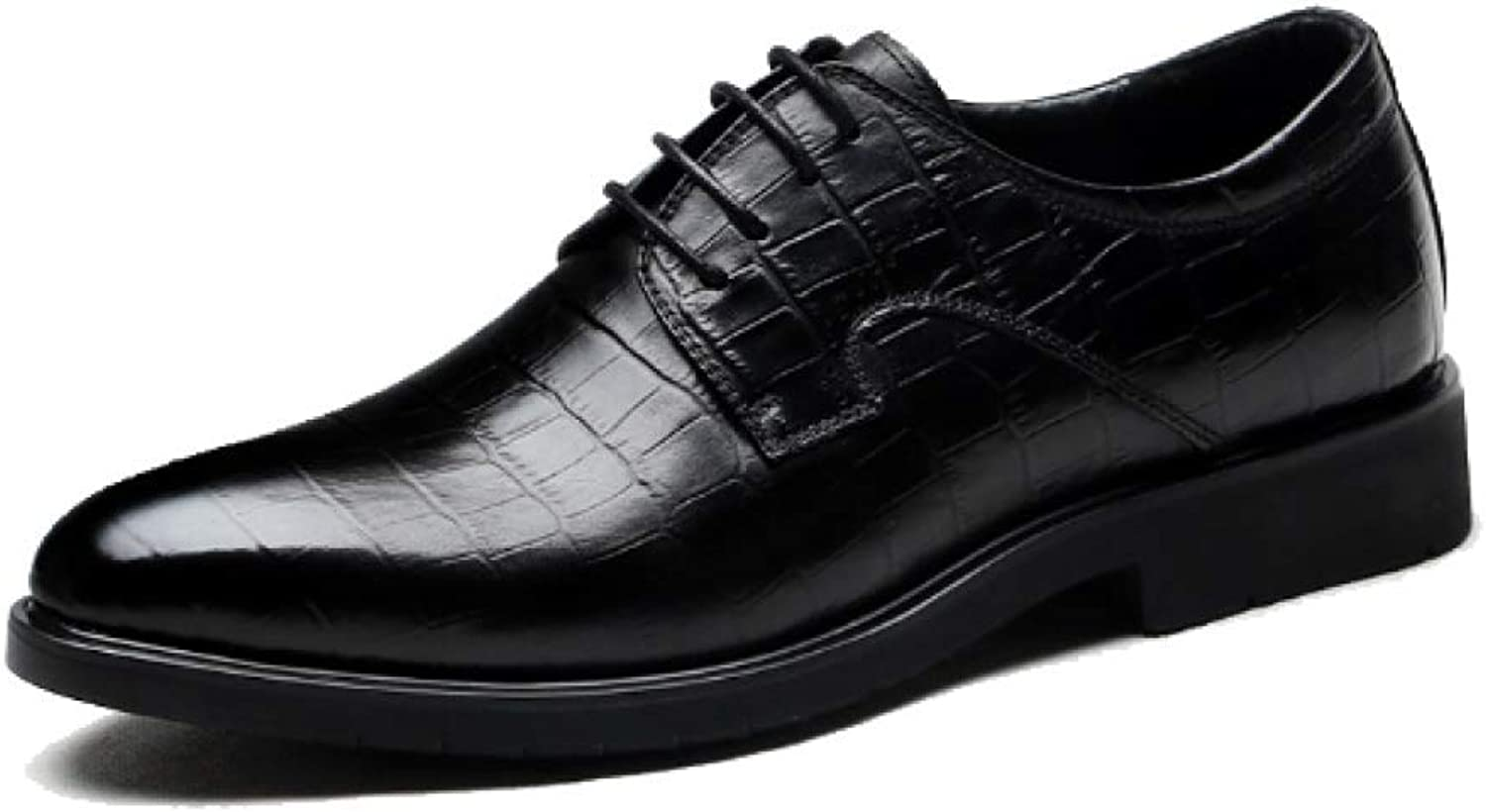 ZPEDY Men's shoes Business Lace Fashion Casual Comfortable Breathable Wearable High Elastic