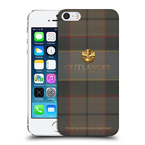 Head Case Designs Licenza Ufficiale Outlander Fraser Tessuto di Lana Scozzese Cover Dura per Parte Posteriore Compatibile con Apple iPhone 5 / iPhone 5s / iPhone SE 2016