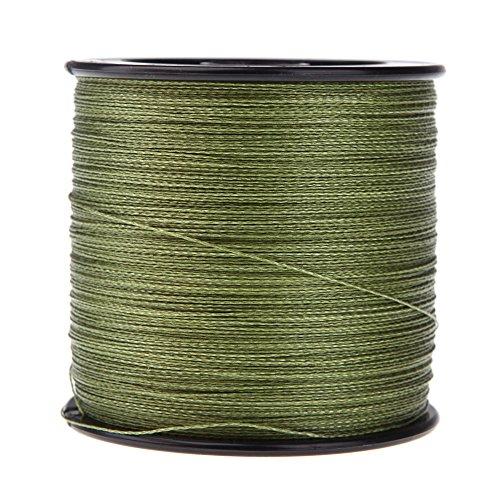 Docooler, 500m di lenza per pesca, resistente, intrecciata 4fili blu, 13,6kg, 0,26mm, Green