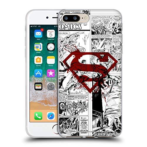 Head Case Designs Oficial Superman DC Comics Splatter Logo Rojo Arte del cómic Carcasa de Gel de Silicona Compatible con Apple iPhone 7 Plus/iPhone 8 Plus