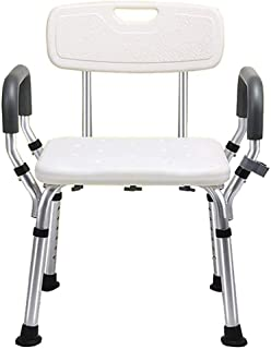 Xuhuizi Durable Elderly Bath Chair Disabled Shower Chair Pregnant Women Shower Chair Aluminum Alloy Non-Slip Bathroom Bath...