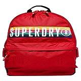 Superdry - Retro Band Montana - Mochila para mujer Rojo Size: 30x45x13 cm (W x H x L)