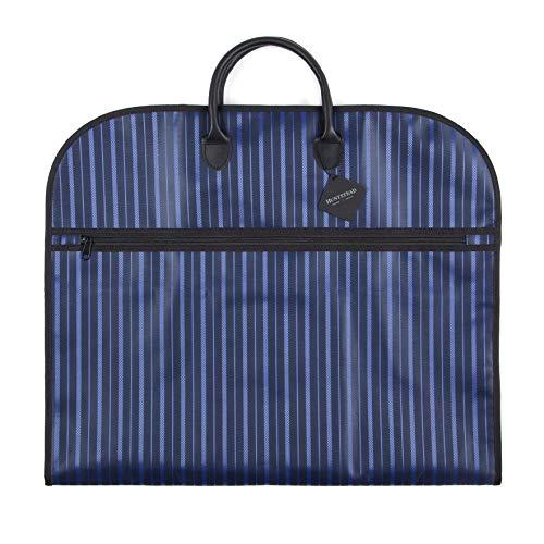 """HUNTSTEAD – 40""""/100cm Leichter und blauer Kleidersack für Business-Anzüge mit Tragegriffe und Reißverschluss – perfekt für Geschäfts- und Dienstreisen"""