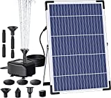 Solar Fountain Pump Outdoor, 2021 Upgraded 10W Solar Fountain Pond Pump Kit, Powered Pump Adjustable with 7 Water Styles for Garden Fish Pond Pool Hydroponics Bird Bath
