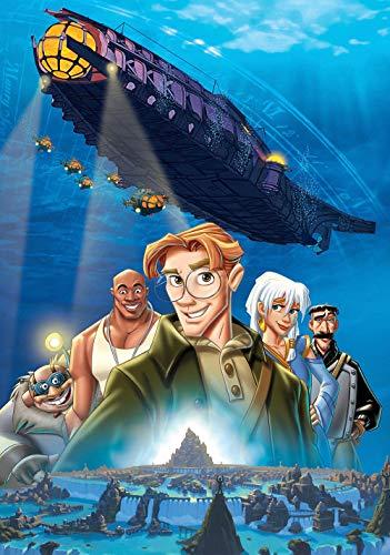 Slbtr Puzzle De Madera 1000 Piezas - Atlantis: El Imperio Perdido Pósters De Películas - Juegos Educativos para Niños Adultos | Juguetes para Niños Y Regalos para Aliviar El Estrés En Adultos