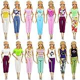 ZITA ELEMENT 10 Pièces Vêtements pour Poupée, 5 T-Shirt 5 PantalonsTenues Décontractées-Style Aléatoire