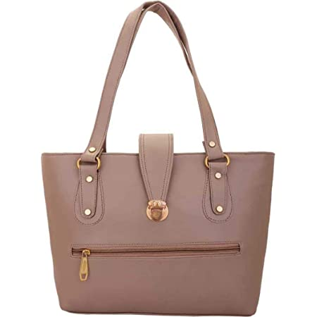 Bellina® Women's Handbag in Premium Leather (Puch button gray)