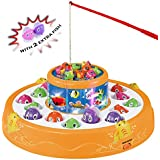 Haktoys Deluxe Fishing Game Toy Set | Rotating...