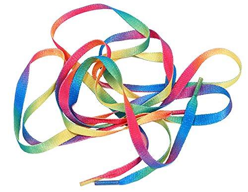 Golden Lank Sportschuhe und Leinenschuhe mit buntem Farbverlauf, für Damen und Herren, leger, flacher Gürtel