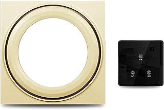 Ventilador de Techo Integrado con luz Dos en Uno Led Luminoso de Silencio Extractor de baño Ventilador de ventilación (Color : Gold, Size : D)