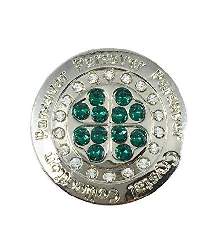 Parsaver Swarovski Crystal Golf Ball Marker - avec Chapeau Ceinture Clip - trèfle à Quatre...