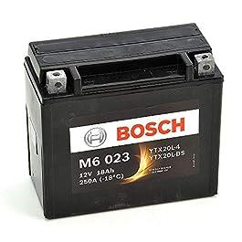 Bosch M6023 Batterie moto YTX20L-BS – 12V AGM 18A/h-250A