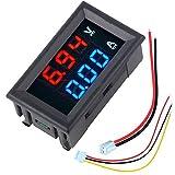 Pantalla Digital Mini amperímetro voltímetro CC 100V 10A Voltímetro Actual probador Metro Azul + Rojo LED Dual - ILS