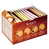 Kukkia Quatre Cookies Flavors of Chocolate, Strawberry, Dark Chocolate, Matcha Green Tea