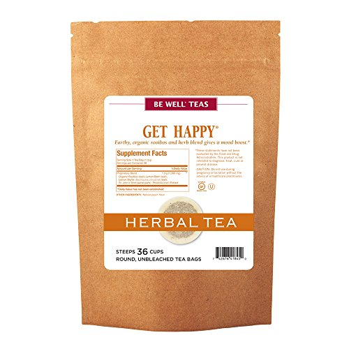 The Republic of Tea Be Well Teas No. 13, Get Happy Herbal Tea For Lifting Your Spirits, Refill Pack of 36 Tea Bags