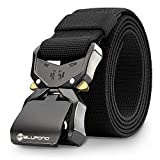 BLUPOND Tactical EDC Belt Concealed Carry Law Enforcement Gear with Quick Release Buckle (Black,...
