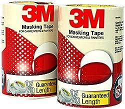3M IA120180137 General Purpose Masking Tape, 24 mm x 20 m (6 Rolls/Pack)