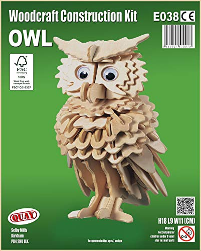 Quay Owl Woodcraft Construction Kit FSC