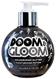 Sunshine & Glitter - Doom & Gloom - Black Holographic Moisturizing Glitter Body Gel - Vegan & Cruelty Free - Infused With Antioxidants And Essential Nutrients - 9 oz