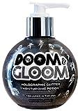 Sunshine & Glitter - Doom & Gloom - Black Holographic Moisturizing Glitter Body Gel - Vegan & Cruelty Free - Infused With Antioxidants And Essential Nutrients - 9 oz