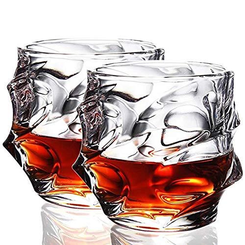 Home+ Verres à Whisky, 2pcs élégant Verre Whisky Scotch Verres d'alcool for la Maison de soirée de Mariage Lunettes Cadeau (Color : 2Pcs)
