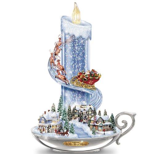 The Bradford Exchange Table Centerpiece: Thomas Kinkade Warm Glow of Christmas Table Centerpiece