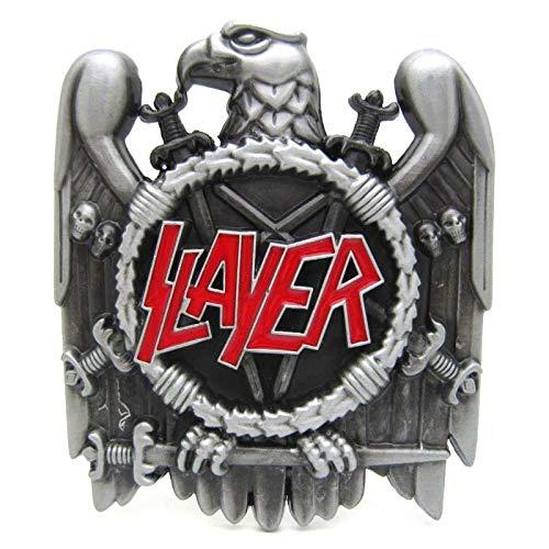 RQWY Hebilla de cinturón Acabado en peltre Slayer Heavy Metal Música