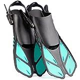 CAPAS Snorkel Fins, Swim Fins Travel Size Short...