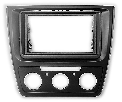 carav 11–584 Doppel DIN Autoradio Radioblende DVD Dash Installation Kit für Skoda Yeti 2009 + (Manuelle Klimaanlage) Faszie mit 173 * 98 mm und 178 * 102 mm