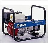 SDMO HX6000C Groupe électrogène monophasé professionnel, gamme Intens, moteur Honda 6000 W