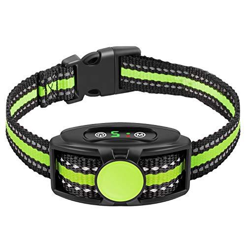 Bark Collar Dog Bark Collar Rechargeable Bark Collar with Beep Vibration Without Shock Bark Collar for Small Medium Large Dogs