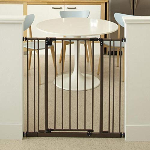 North States 38.5' Wide Extra-Tall Easy-Close Baby Gate: Equipped with Triple Locking System - Ideal for doorways Needing Taller barriers. Pressure Mount. Fits 28'-38.5' Wide (36' Tall, Bronze)